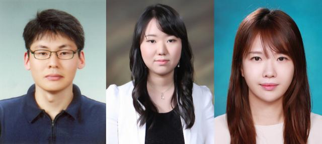포스텍 이승재 교수, 손희화 박사, 서근희 박사(왼쪽부터)
