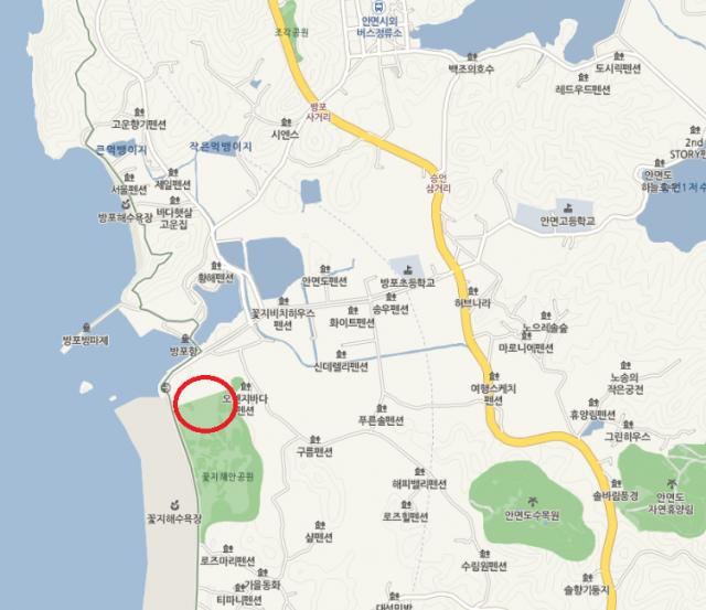 태안 세계튤립축제 행사장 위치. 네이버 지도