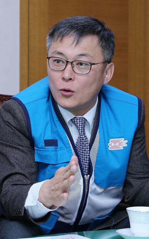 강성주 우정사업본부장. 사진 이무성 객원기자