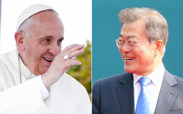프란치스코 교황과 문재인 대통령이 오는 18일 바티칸에서 직접 얼굴을 맞댄다. 그렉 버크 교황청 대변인은 9일 성명을 내고