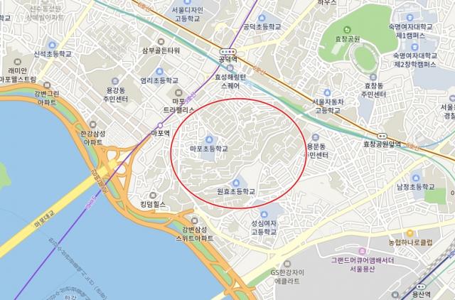 서울 마포구 도화동. 네이버 지도
