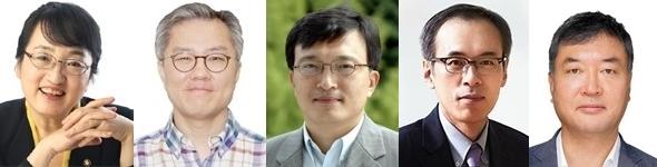 김진애, 최강욱, 김의겸, 주진형, 황희석. 매일신문DB