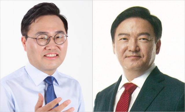 홍석준 전 대구시 경제국장(왼쪽)과 민경욱 의원