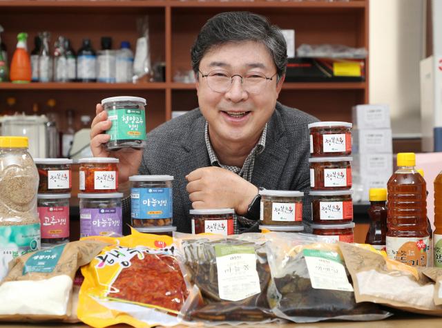 정재호 초록들 대표가 자사 제품을 소개하고 있다. 성일권 기자 sungig@imaeil.com