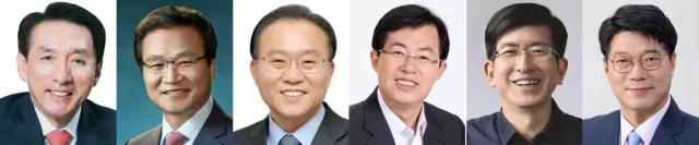 (왼쪽부터) 김석기, 김용판, 윤재옥, 이만희, 이상식, 정우동