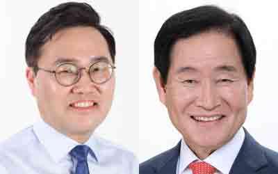 (왼쪽부터) 홍석준, 곽대훈 후보