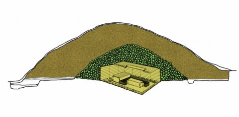 돌무지덧널무덤 구조도. 국립경주박물관 제공