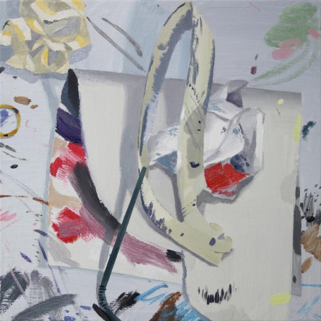 이미솔-작품9, oil on panel, 31.8x31.8cm, 2020