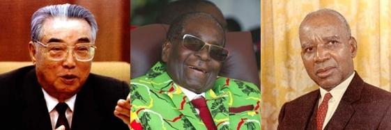 김일성, 로버트 무가베 짐바브웨 전 대통령, 헤이스팅스 카무즈 반다 전 말라위 대통령. 매일신문DB