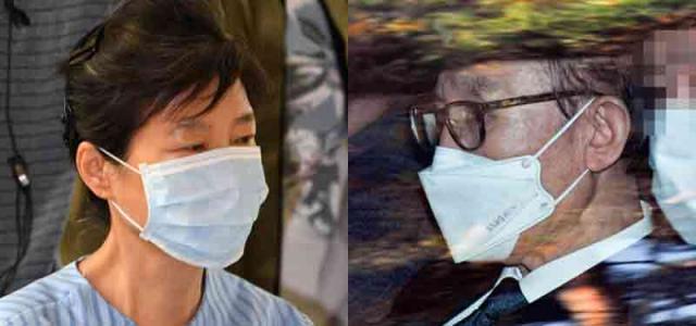이명박(오른쪽), 박근혜 전 대통령. 연합뉴스