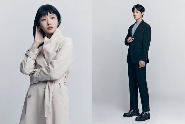 배우 정해인, 김고은과 함께한 마인드브릿지 2021 S/S 컬렉션 화보. 마인드브릿지 제공