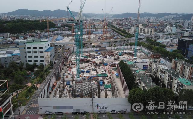 대구 중구의 한 아파트 건축 공사 현장. 기사 내용과는 무관함. 매일신문 DB