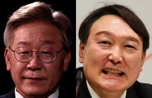 이재명, 윤석열. 연합뉴스
