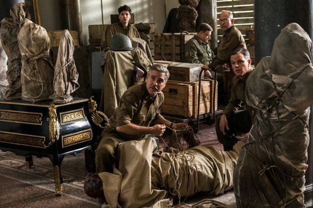 제2차 세계대전 당시 나치가 숨긴 500만점에 달하는 예술품들을 찾아 내고 제자리에 돌린 연합군 '기념물, 예술품, 기록물 지원부대'의 활약을 그린 영화 '모뉴먼츠 맨'의 한 장면. 네이버 출처