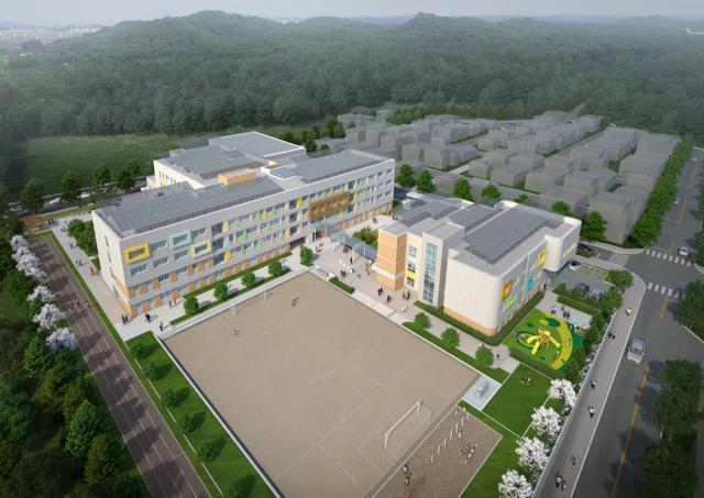대구시교육청이 내년 3월 개교하는 북구 도남지구1초등학교(가칭) 조감도. 대구시교육청 제공