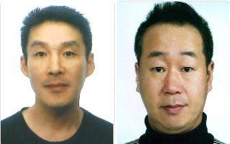 제주경찰청이 과거 동거녀의 중학생 아들을 살해한 혐의(살인)로 구속된 백광석씨(왼쪽)와 공범 김시남씨의 신상을 공개한다고 26일 밝혔다. 연합뉴스