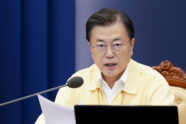 문재인 대통령이 29일 청와대에서 열린 민생경제장관회의에서 발언하고 있다. 연합뉴스