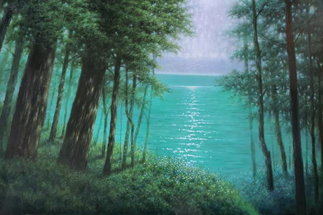 이종갑 작 '윤슬-Forest' 145.5x97.0cm Oil on Canvas 2021년