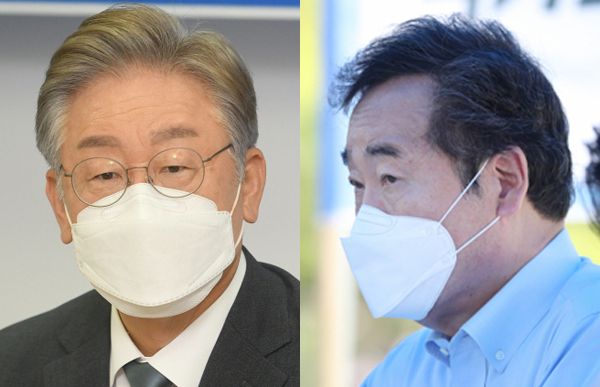 이재명(왼쪽), 이낙연. 연합뉴스