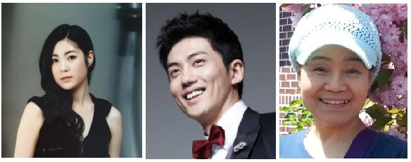 왼쪽부터 명소요(육영수 역), 장창훈(박정희 역), 조승현(육영수 여사 모친 역) 배우
