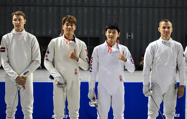한국 근대5종 올림픽 국가대표 정진화(왼쪽)와 전웅태. 대한근대5종연맹