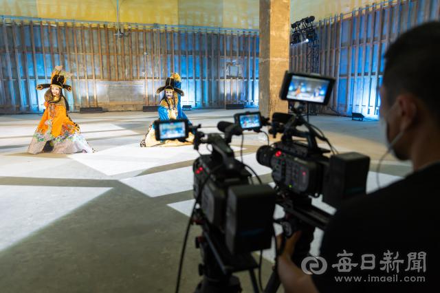 대구 서구 이현비축기지 공연영상콘텐츠 촬영 현장. 대구문화재단 제공