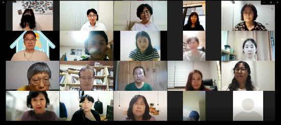 숭실사이버대학교 한국어교육학과가 필리핀 '까인다 세종학당' 학생들과 온라인 수업을 진행하는 모습