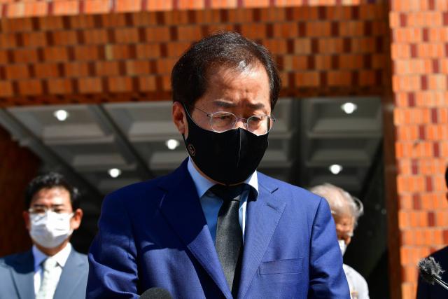 국민의힘 대권주자인 홍준표 의원. 연합뉴스