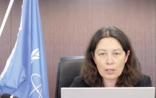 최근 일본을 방문한 리디 에브라르 국제원자력기구(IAEA) 사무차장이 도쿄 일본 포린프레스센터(FPCJ)에서 온라인 기자회견을 하고 있다. 에브라르 사무차장은 일본 후쿠시마 제1 원전 방사능 오염수 방류 과정의 안정성 평가에 한국과 중국 등 인근 국가도 참여하게 될 것이라고 밝혔다. 연합뉴스