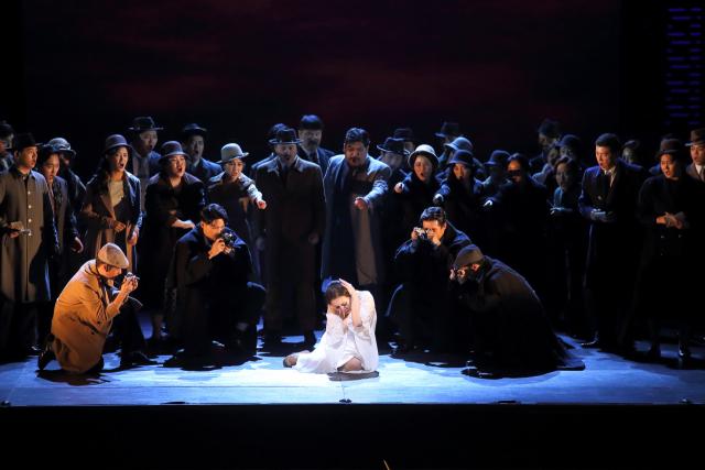 10월 1일 오페라하우스 무대에 오르는 창작 오페라 '윤심덕, 사의 찬미'의 한 장면. 대구오페라하우스 제공