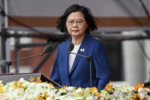 '흡수통일' 강조한 시진핑에 차이잉원
