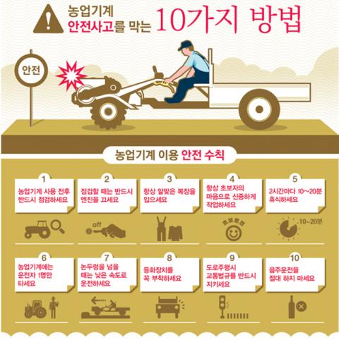 농기계 안전사고 방지 수칙 10가지 잊지 마세요