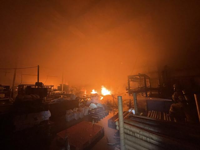 대구 달서구 비닐 제조 공장서 불,  9800만원 재산 피해