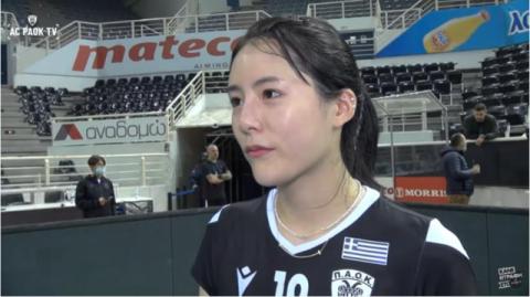 활짝 웃은 이다영…그리스 리그 성공 데뷔