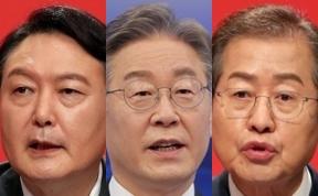 李 34-尹 31%·李 33-洪 30%…대선 가상대결 '3%p 초접전'