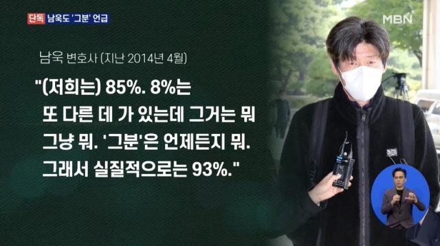 2014년 남욱 입에서도 나온 '그분'…지분 8% 보유 시사