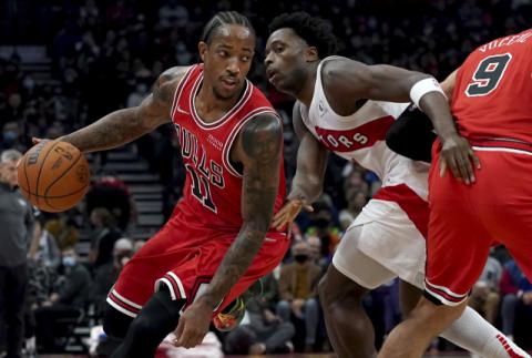 [포토뉴스] 개막 4연승 달린 NBA 시카고, 조던 시대 이후 첫 기록